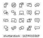 simple set of message line... | Shutterstock .eps vector #1659010369
