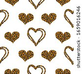 Leopard Hearts Spotted Print...
