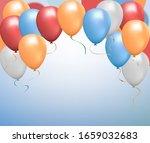 helium balloon shine colored... | Shutterstock .eps vector #1659032683