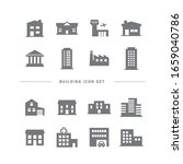 collection of building flat... | Shutterstock .eps vector #1659040786