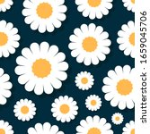 beautiful daisy flowers with... | Shutterstock .eps vector #1659045706