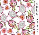 seamless watercolor pattern of...   Shutterstock . vector #1659075796