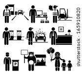 poor low class jobs occupations ...   Shutterstock . vector #165910820