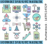 5g fast network icons set  256...