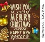 vector illustration. christmas... | Shutterstock .eps vector #165911606