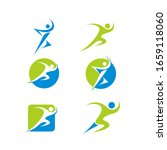 runner logo icon collection... | Shutterstock .eps vector #1659118060