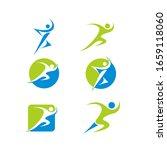 runner logo icon collection... | Shutterstock .eps vector #1659118060