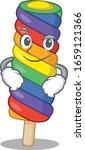 cool rainbow ice cream mascot... | Shutterstock .eps vector #1659121366