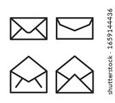 envelope icon set. vector...