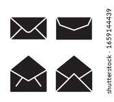envelope icon set. vector...