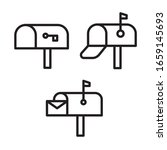mailbox icon set. vector...
