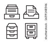file cabinet icon set. vector...