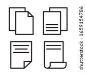 paper icon set. vector graphic...