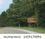 Roadside Sign With Distance And ...