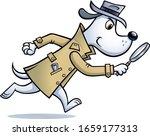 cartoon of a dog detective... | Shutterstock .eps vector #1659177313