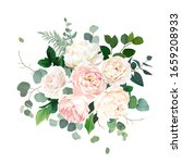 dusty pink blush  white and...   Shutterstock .eps vector #1659208933