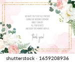 retro delicate wedding card...   Shutterstock .eps vector #1659208936