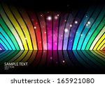 rainbow color vector techno     ... | Shutterstock .eps vector #165921080