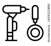 dentist drill and mirror icon.... | Shutterstock .eps vector #1659221800
