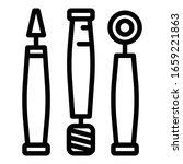 dental drills icon. outline... | Shutterstock .eps vector #1659221863