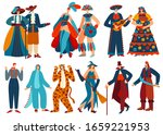people in costumes  isolated... | Shutterstock .eps vector #1659221953