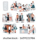 woman shopping in fashion store ... | Shutterstock .eps vector #1659221986