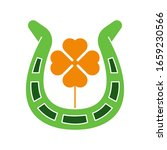 st. patricks flat icon vector...