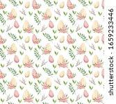 happy easter. watercolor... | Shutterstock . vector #1659233446