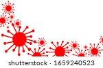 covid 19 coronavirus  red... | Shutterstock . vector #1659240523