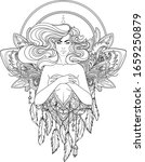 pretty fairy elf. portrait of...   Shutterstock .eps vector #1659250879
