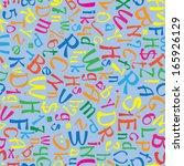 multicolor english alphabet... | Shutterstock . vector #165926129