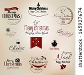 christmas and new year symbols... | Shutterstock .eps vector #165927674