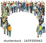 large group of people in the... | Shutterstock .eps vector #1659300463