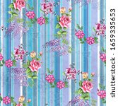 digital print flower pattern... | Shutterstock . vector #1659335653
