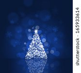 holiday blue background with... | Shutterstock . vector #165933614
