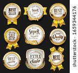 a collection of various badges... | Shutterstock . vector #1659344176