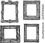 vintage hand drawn frame | Shutterstock .eps vector #165934466