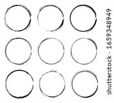 set of hand drawn vector circle ... | Shutterstock .eps vector #1659348949
