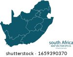 south africa map high detailed... | Shutterstock .eps vector #1659390370