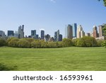 a landscape of central park in... | Shutterstock . vector #16593961