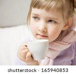portrait of a little girl... | Shutterstock . vector #165940853