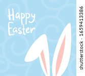 happy easter card with cute... | Shutterstock .eps vector #1659413386