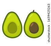 avocado food icon. avocado... | Shutterstock . vector #1659425263