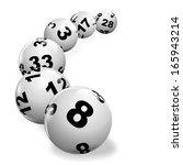 illustration of lottery balls...   Shutterstock . vector #165943214