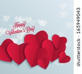 valentine's day background with ... | Shutterstock .eps vector #165949043