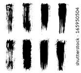 vector set of grunge brush... | Shutterstock .eps vector #165950504