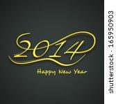 happy new year 2014 celebration ... | Shutterstock .eps vector #165950903