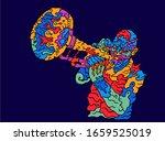 jazz trumpet player. vector... | Shutterstock .eps vector #1659525019