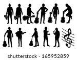 man with guitar vector... | Shutterstock .eps vector #165952859