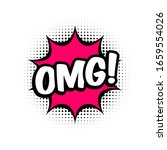 omg comic style message in red... | Shutterstock .eps vector #1659554026